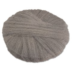 "Radial Steel Wool Pads, Grade 1 (Med): Cleaning & Dry Scrubbing, 17"", GY, 12/CT"