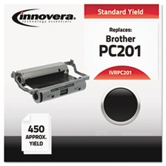 Compatible Black Thermal Transfer Print Cartridge, Replacement for Brother PC201 450 Page Yield