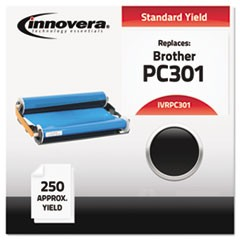 Compatible Black Thermal Transfer Print Cartridge, Replacement for Brother PC301, 250 Page Yield