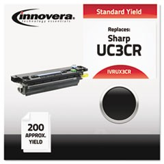 Compatible UX3CR (UX3CR) Thermal Transfer Print Cartridge, 100 Page-Yield, Black