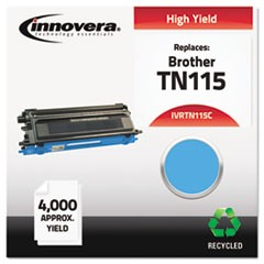 Remanufactured TN115C High-Yield Toner, 4000 Page-Yield, Cyan