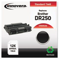 Remanufactured Black Drum Unit, Replacement for Brother DR250, 12,000 Page-Yield
