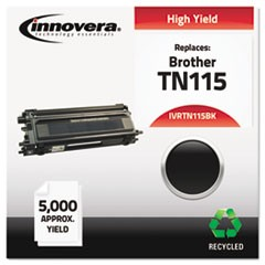 Remanufactured TN115BK High-Yield Toner, 5000 Page-Yield, Black