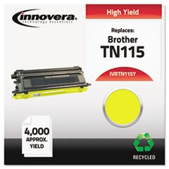Remanufactured TN115Y High-Yield Toner, 4000 Page-Yield, Yellow
