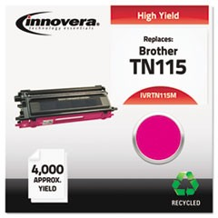 Remanufactured TN115M High-Yield Toner, 4000 Page-Yield, Magenta