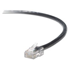 1High Performance CAT6 UTP Patch Cable, 3 ft., Black