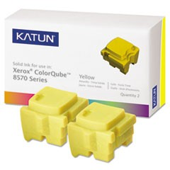 39399 Compatible 108R00928 Solid Ink Stick, Yellow, 2/BX