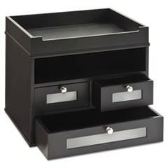 Midnight Black Collection Tidy Tower, 12 4/5 x 10 3/5 x 10 9/10, Wood