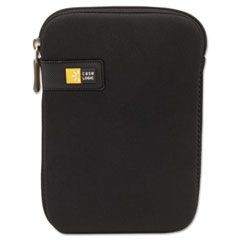 "7"" Tablet Sleeve, Nylon, Zippered, Black"