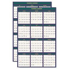 4 Seasons Reversible Business/Academic Wall Calendar, 24 x 37, 2015-2016