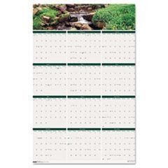 Waterfalls of the World Reverse/Erase Yearly Wall Calendar, 24 x 37, 2016