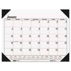 One-Color Refillable Monthly Desk Pad Calendar, 22 x 17, 2016