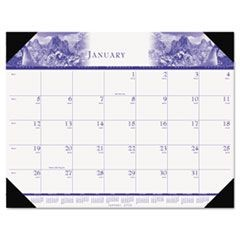 One-Color Photo Monthly Desk Pad Calendar, 22 x 17, 2016