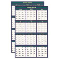 4 Seasons Reversible/Erasable Business/Academic Calendar, 24x37, 2015-2016