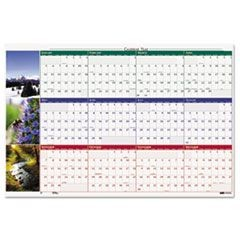 Earthscapes Nature Scene Reversible/Erasable Yearly Wall Calendar, 32 x 48, 2016