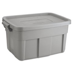 Roughneck Storage Box, 14 gal, Steel Gray