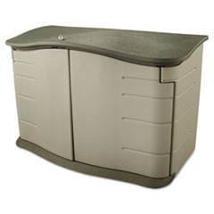 Horizontal Outdoor Storage Shed, 55 x 28 x 36, 20 cu. ft., Olive Green/Sandstone