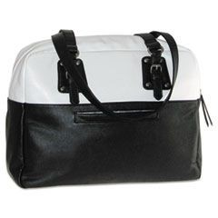 "Santorini Laptop Tote, 16"" x 5 3/4"" x 13 3/4"", Black/White"