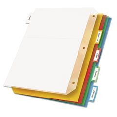 Poly Ring Binder Pockets, 8-1/2 x 11, Letter, Assorted Colors, 5/Pack