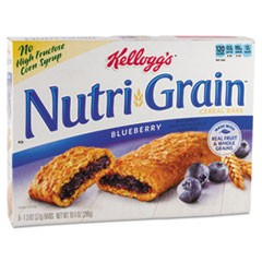 Nutri-Grain Soft Baked Breakfast Bars, Blueberry, Indv Wrapped 1.3 oz Bar, 16/Box