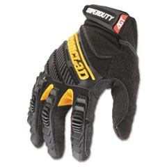 SuperDuty Gloves, Large, Black/Yellow, 1 Pair