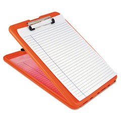 "SlimMate Storage Clipboard, 1/2"" Clip Capacity, 8 1/2 x 11 Sheets, Hi-Vis Orange"