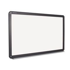 Interactive Magnetic Dry Erase Board, 90 x 52 7/10 x 4 1/5, White/Black Frame