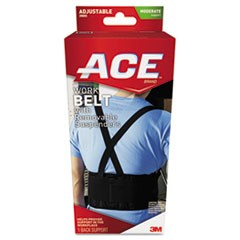 "Work Belt with Removable Suspenders, Fits Waists Up To 48"", Black"