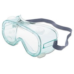 1A610S Safety Goggles, Indirect Vent, Green-Tint Fog-Ban Lens