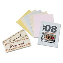 Array Card Stock, 65lb, 8 1/2 x 11, Assorted Parchment Colors, 100/Pack