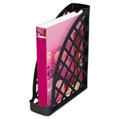 Recycled Plastic Magazine File, 11 3/4 x 3 x 9 1/2, Black
