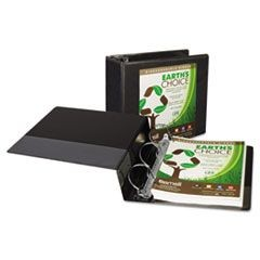 "Earth's Choice Heavy-Duty Biodegradable D-Ring View Binder, 5"" Cap, Black"