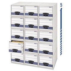 "STOR/DRAWER STEEL PLUS Extra Space-Savings Storage Drawers, 10.5"" x 25.25"" x 5.25"", White/Blue, 12/Carton"