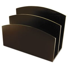 "Eco-Friendly Bamboo Curves Letter Sorter, 2 Sections, DL to A6 Size Files, 7.13"" x 3.25"" x 5.13"", Espresso Brown"