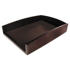 "Eco-Friendly Bamboo Curves Letter Tray, 1 Section, Letter Size Files, 9.5"" x 13.25"" x 2.5"", Espresso Brown"