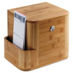1Bamboo Suggestion Box, 10 x 8 x 14, Natural