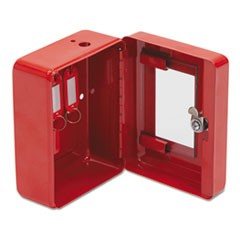 Hercules Emergency Safe, Steel, 0.05 ft3, 4-3/4w x 6d x 3h, Red