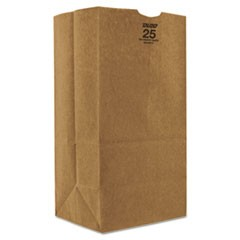 Kraft Paper Bags, Extra Heavy-Duty, 25 lb., Natural, 500/Carton