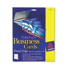 Print-to-the-Edge Microperf Business Cards, Color Laser, 2 x 3 1/2, Wht, 160/Pk