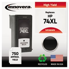 Remanufactured CB336WN (74XL) High-Yield Ink, 750 Page-Yield, Black
