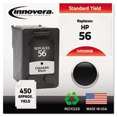 Remanufactured C6656AN (56) Ink, 450 Page-Yield, Black