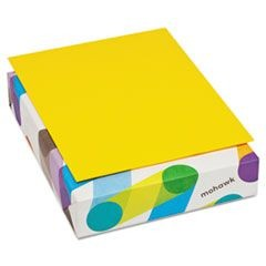 BriteHue Multipurpose Colored Paper, 20lb, 8 1/2 x 11, Sun Yellow, 500 Shts/Rm