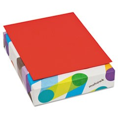 BriteHue Multipurpose Colored Paper, 20lb, 8 1/2 x 11, Red, 500 Shts/Rm