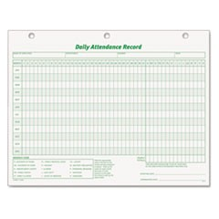 Daily Attendance Card, 8 1/2 x 11, 50 Forms