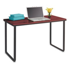 Steel Workstation, 47.25w x 24d x 28.75h, Cherry/Black
