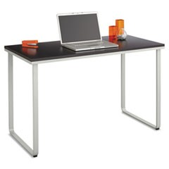 Steel Workstation, 47.25w x 24d x 28.75h, Black/Silver