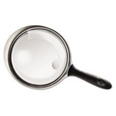 "2X - 6X Round Handheld Magnifier with Acrylic Lens, 4"" diameter"