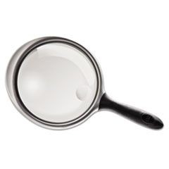 "2X - 4X Round Handheld Magnifier with Acrylic Lens, 5"" diameter"