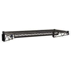 Steel Wire Wall Shelf Rack, 48w x 18d x 7-1/2h, Black