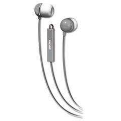 In-Ear Buds with Built-in Microphone, Silver/White